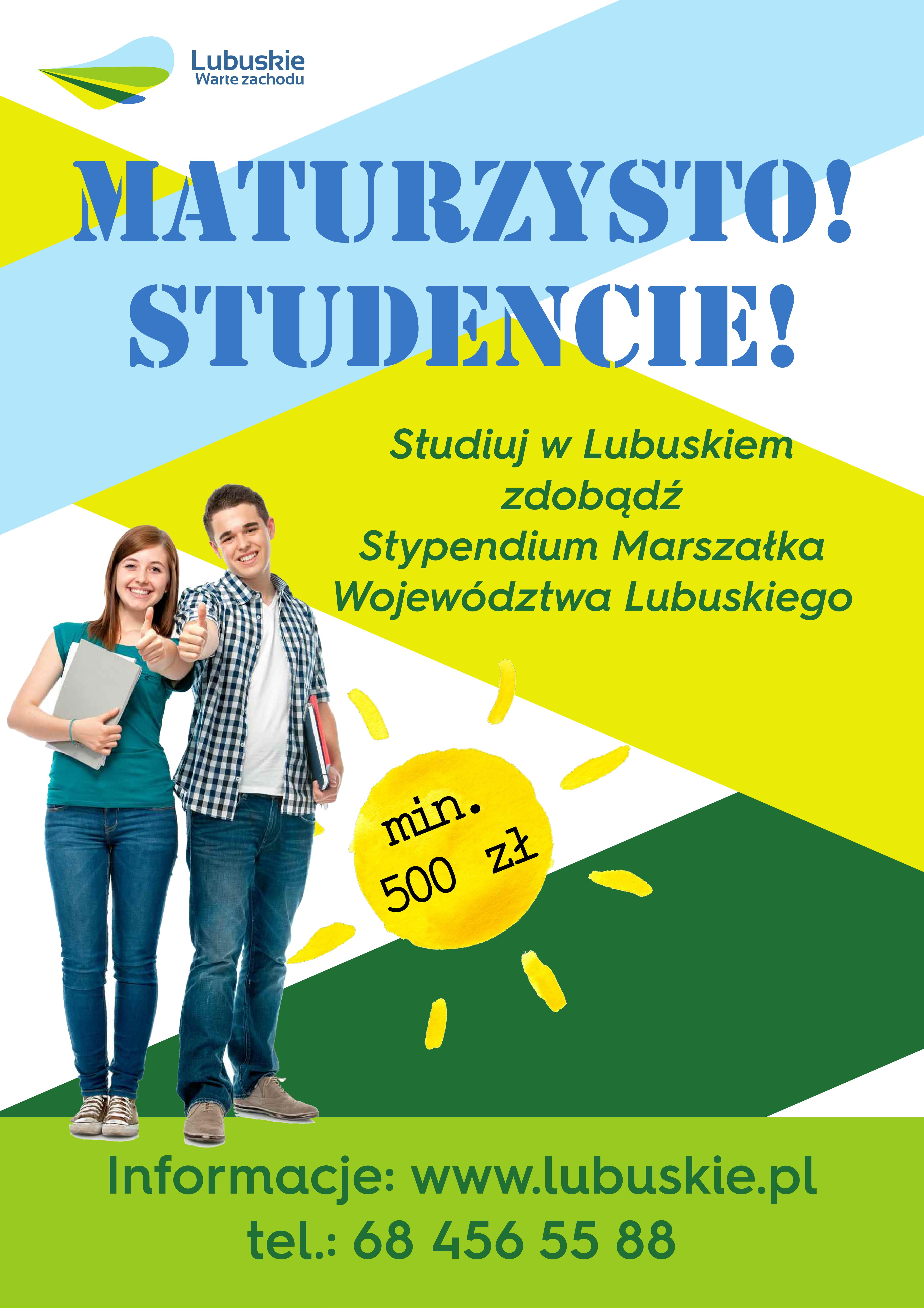 Pomoc materialna dla studentów studiów stacjonarnych wyższych uczelni z terenu województwa lubuskiego